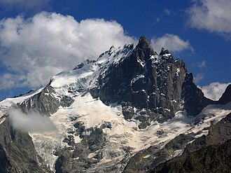 Dauphiné Alps - La Meije seen from the Emparis plateau