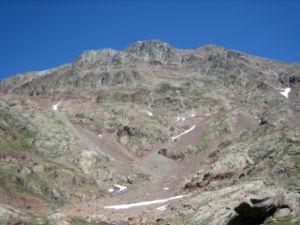 Pica d'Estats - Pica d'Estats, SW face in August 2005