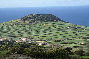 Altares - Pico Matias Simão an ancient volcanic spatter cone located near the coast of Altares