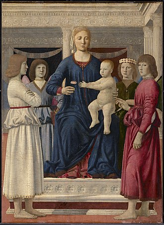 Clark Art Institute - Piero della Francesca, Madonna and Child, c. 1475-1482