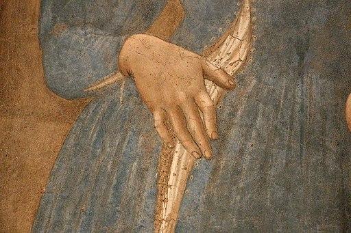 Piero della francesca, Madonna del Parto, 1455 ca. 12