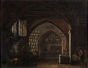 Pietro Paltronieri - Image: Pietro Paltronieri (attr) Inneres einer gewölbten Halle