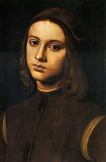 PERUGINO, Pietro Portrait of a Young Man (detail) 1495