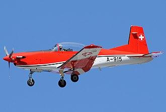 Pilatus PC-7 - Image: Pilatus PC 7, Switzerland Air Force JP7211053