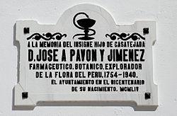 Placa homenaje a José Antonio Pavón (Casatejada, Cáceres).jpg