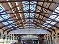 Plafond de la gare de Dieppe en soirée (2018).JPG