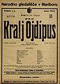 Plakat za predstavo Kralj Ojdipus v Narodnem gledališču v Mariboru 28. junija 1926.jpg