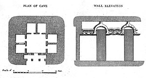 Vihara - Image: Plan cave 19 Nasik