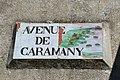 """Plaque """"Avenue de Caramany"""", Rasiguères.jpg"""