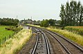 Point to the Up Goods Loop at Eckington - geograph.org.uk - 1726566.jpg