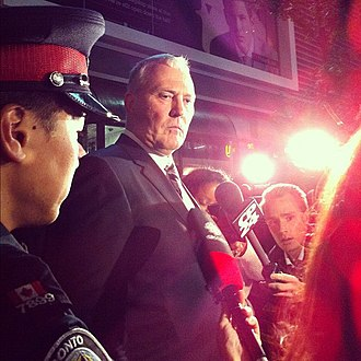 Bill Blair (police officer) - Blair responding to media questions at the scene of the Toronto Eaton Centre shooting in June 2012