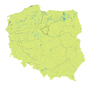 Dobrzyń Land - Dobrzyń Land in present-day Poland