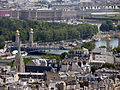 Pont Alexandre III from the Eiffel Tower, Paris June 2014 001.jpg