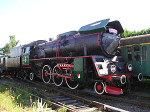 Old Polish steam locomotive Ol 49-12, now it b...