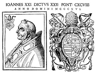 Pope John XXII - 17th-century engraving of Pope John XXII