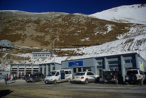 Porters Ski Area - Image: Porters main building Stevage