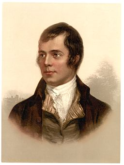 Portrait of Robert Burns Ayr Scotland