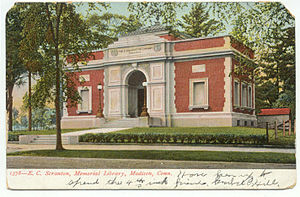 Madison, Connecticut - E.C. Scranton Memorial Library, about 1906
