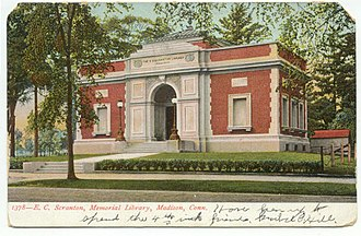 Madison, Connecticut - E.C. Scranton Memorial Library, about 1906