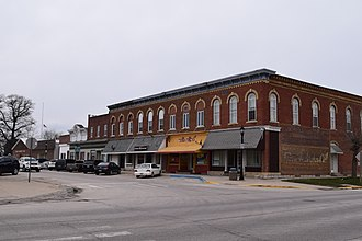 Iowa Highway 51 - Iowa 51 is the street in the foreground in Postville.