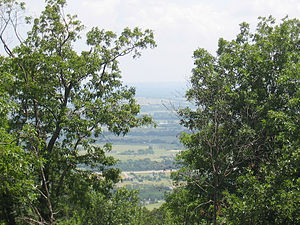 Poteau, Oklahoma - View of Poteau Valley from Cavanal Hill.