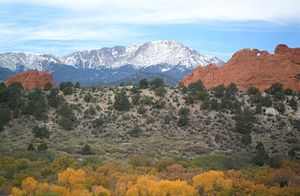 Front Range - Pikes Peak and Garden of the Gods.