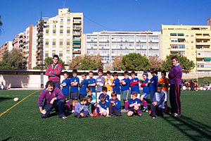 Rugby union in Spain - Under-8 players at Club de Rugby San Roque, November 2007