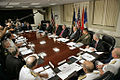 President Bush meets with Secretary of Defense and Defense Policy and Programs Team, August 14, 2006.jpg
