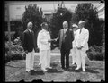 President Hoover presents special gold medal to Admiral Byrd. Rear Admiral Richard E. Byrd receiving from President Hoover the special gold of the National Geographic Society at the White LCCN2016889678.tif