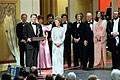 """President Ronald Reagan Addresses The Crowd During Ford's Theatre Gala """"The Stars Salute The President"""".jpg"""