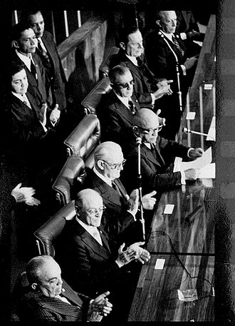 Ernesto Geisel - Geisel at his inauguration ceremony in the National Congress, 15 March 1974