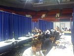 Press Filing Center in Wilkins Auditorium (2828774582).jpg