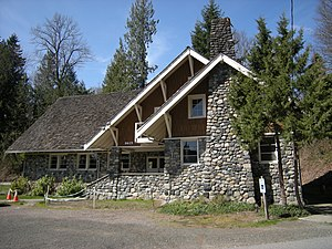 Preston, Washington - The Preston Community Clubhouse, built as a Works Projects Administration project in 1939, is listed on the National Register of Historic Places.