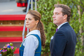 Wedding of Princess Madeleine and Christopher O'Neill - The couple at the celebrations of the National Day of Sweden, two days prior to the wedding.