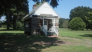 Cherokee Phoenix - Reconstruction of the original print shop located at New Echota, in which the Cherokee Phoenix was printed