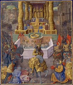 The taking of Jerusalem by Herod the Great, 36 BC, by Jean Fouquet, late 15th century.