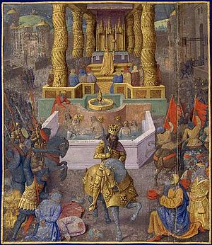 Siege of Jerusalem (37 BC) - The taking of Jerusalem by Herod the Great, Jean Fouquet 1470–1475