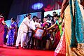 Priyadarshini receiving Eminent Women awrad from Telangana Government.jpg