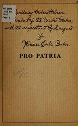 Florence Earle Coates: Pro Patria