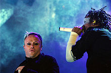 Keith Flint and Maxim Reality of The Prodigy performing at the Openair Frauenfeld, Switzerland