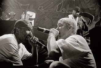 Eminem and Proof performing in 1999 Proof-eminem.jpg