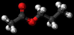 Propyl acetate - Image: Propyl acetate 3D ball