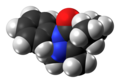 Propyphenazone molecule spacefill from xtal.png