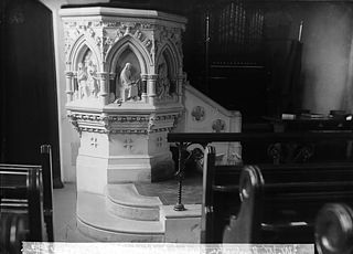 Puplit in the William Williams memorial chapel, Llanymddyfri