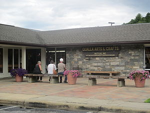 Qualla Boundary - Qualla Arts and Crafts Center in Cherokee, North Carolina