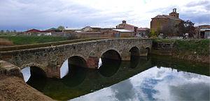 Gonzalo Rodríguez Girón - Bridge over the Sequillo River en Boadilla de Rioseco where Gonzalo Rodríguez Girón held lands
