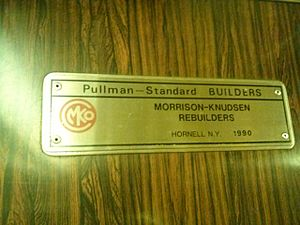 R46 (New York City Subway car) - Plaque showing restoration of the R46.