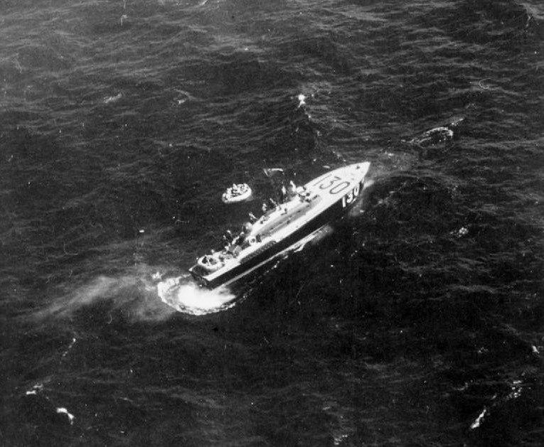 RAF HSL 130 rescueing Halifax crew c1942