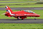 RAF Red Arrows at Prestwick Airport (29476367660).jpg