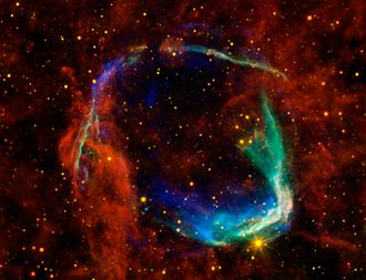 SN 185 - Infrared images from NASA's Spitzer Space Telescope and WISE are combined with X-ray data from the Chandra X-ray Observatory and ESA's XMM-Newton Observatory in this image of RCW 86.